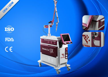 China Metal Cover Laser Tattoo Removal Machine High Focus 1064nm / 532nm Laser Energy supplier