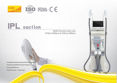 China Multi Functional SHR Hair Removal Machine 8x40mm / 10x50mm OPT Spot Size factory
